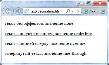 свойство text-decoration