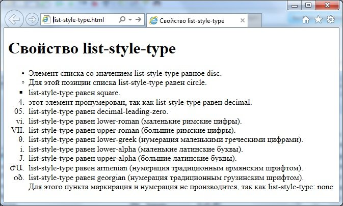 свойство list-style-type